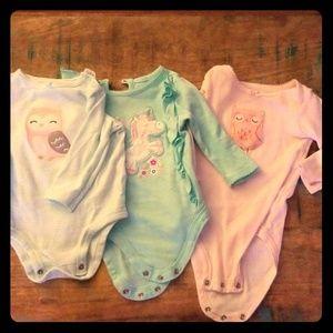 Girls long sleeve 3pc onesie set
